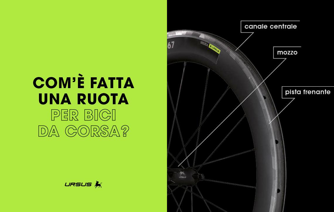 Com'è fatta una ruota per bici da corsa?