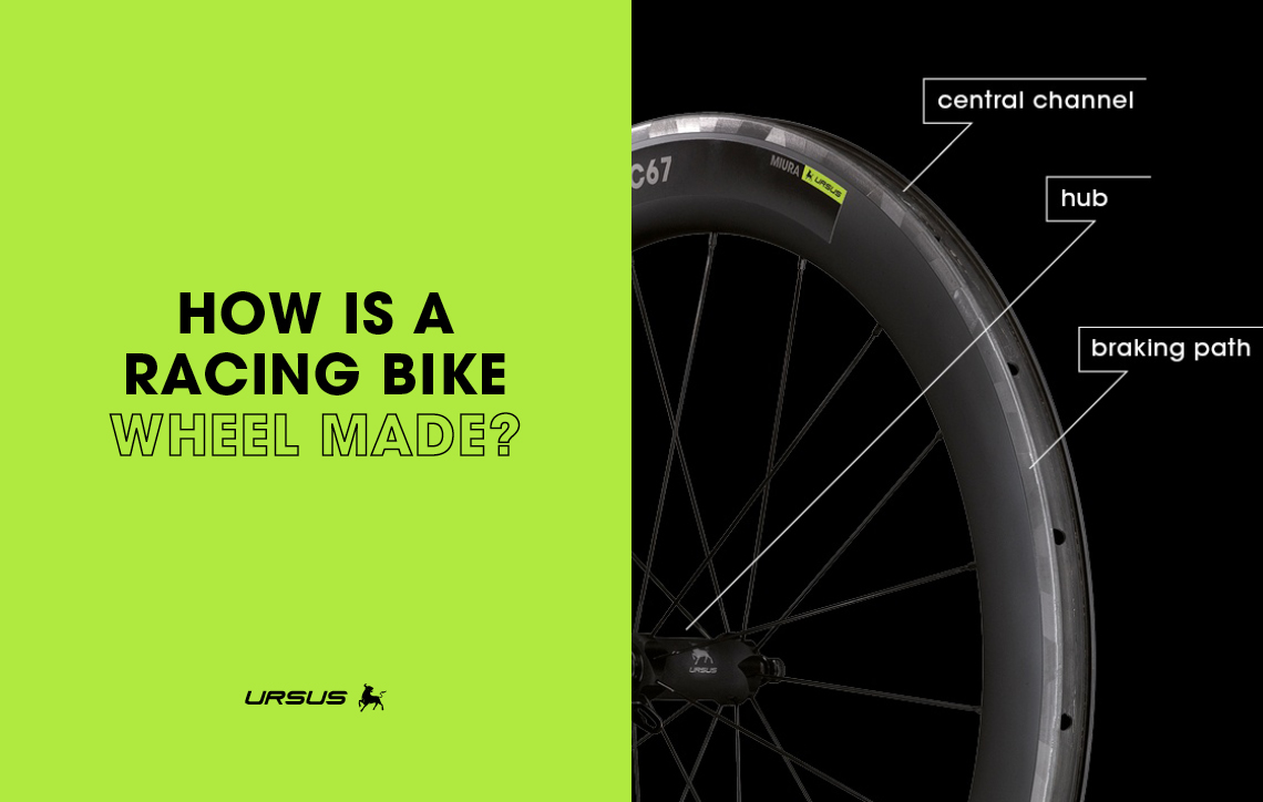 How is a racing bike wheel made?